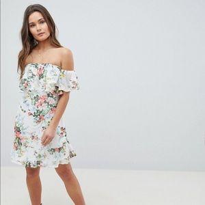ASOS Off shoulder ruffle dress